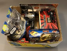 A quantity of boxed Star Wars models including Star Wars Episode I Darth Maul, Rubix cube puzzle,