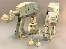 Two Star Wars AT-AT Imperial Walkers,