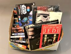 A collection of Star Wars books, Star Wars Ultimate Guide, Illustrated screen plays,