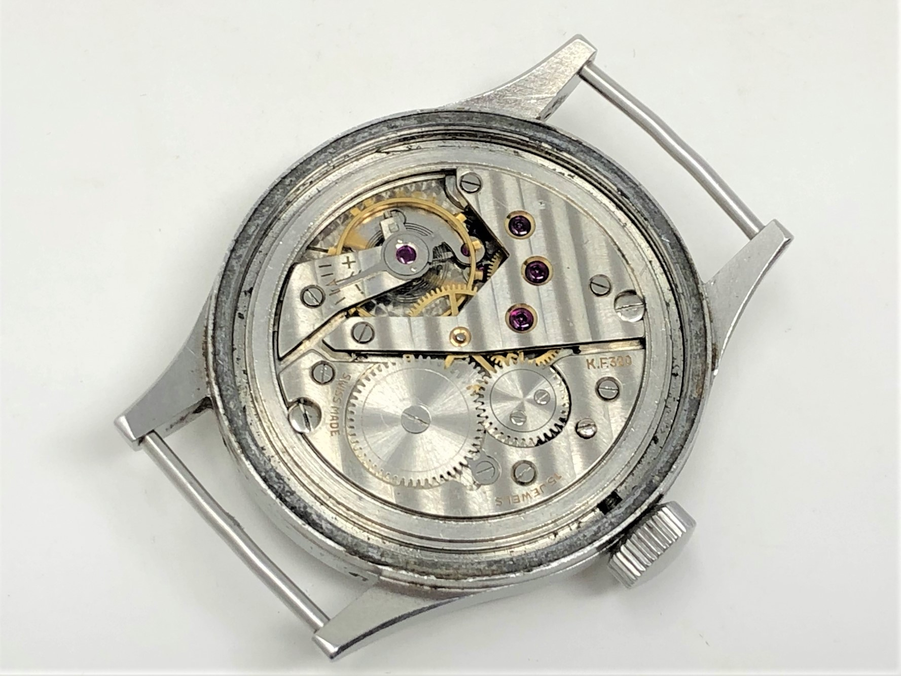 A very rare stainless steel British Military Grana wristwatch, - Image 10 of 11