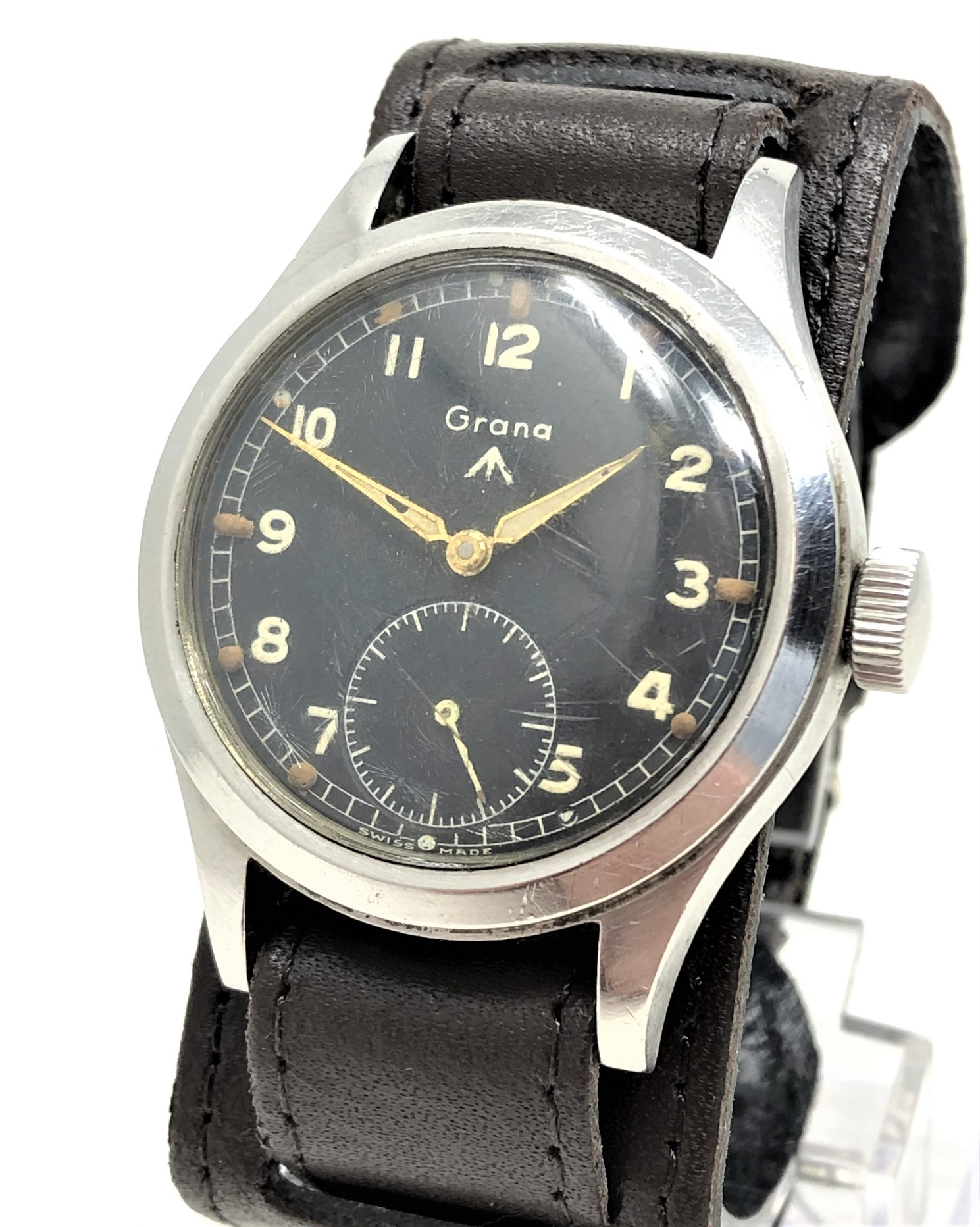 A very rare stainless steel British Military Grana wristwatch, - Image 3 of 11