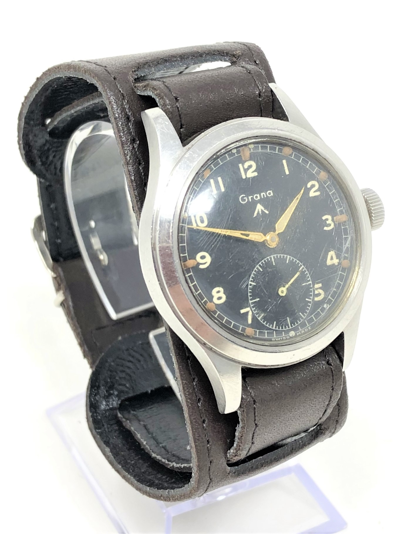 A very rare stainless steel British Military Grana wristwatch, - Image 2 of 11