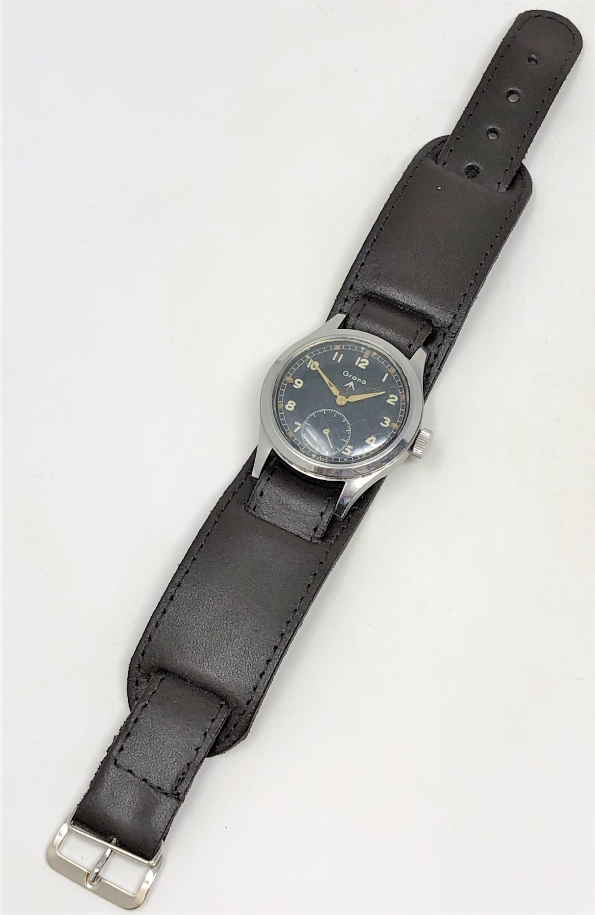 A very rare stainless steel British Military Grana wristwatch, - Image 6 of 11