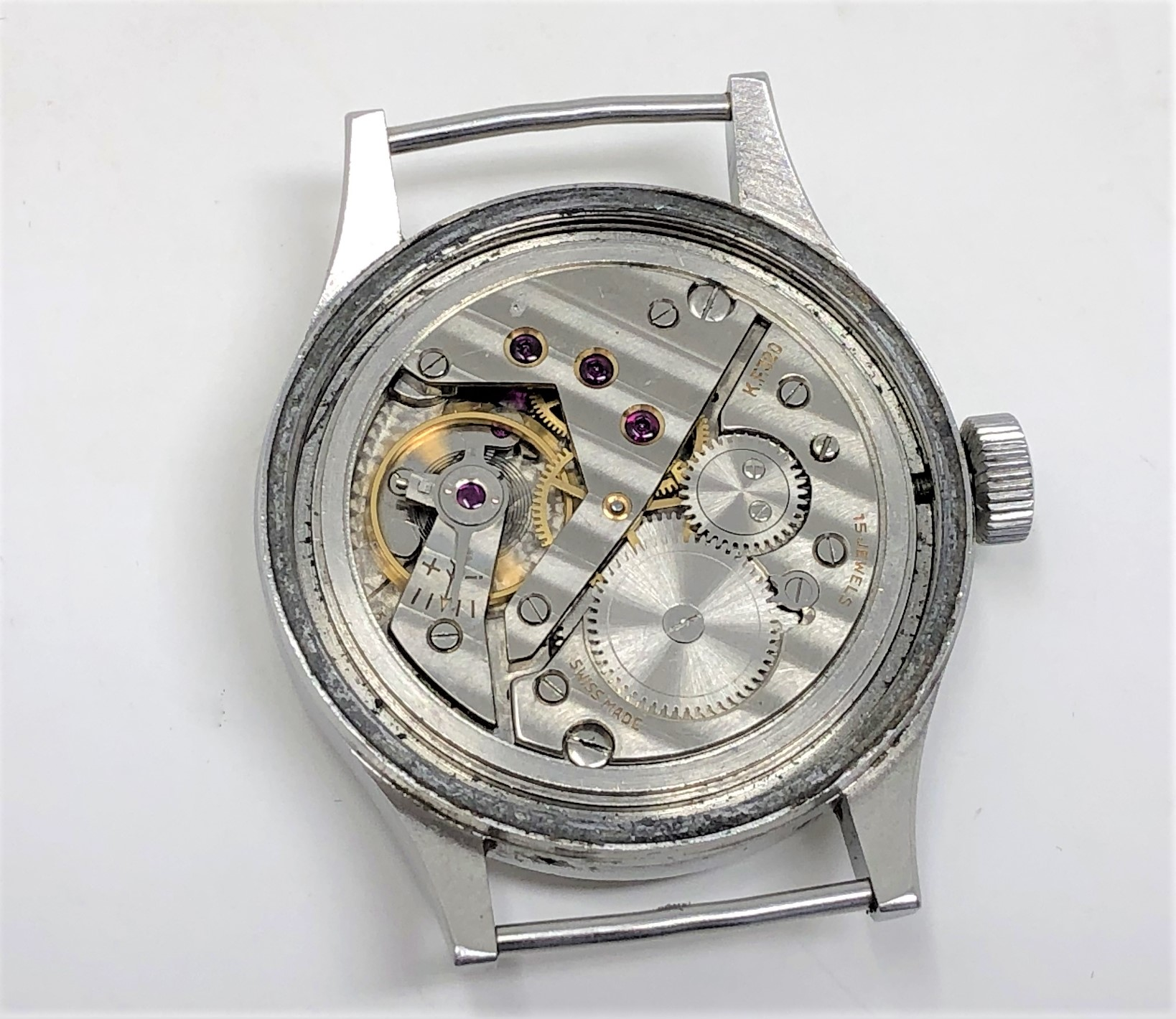 A very rare stainless steel British Military Grana wristwatch, - Image 11 of 11