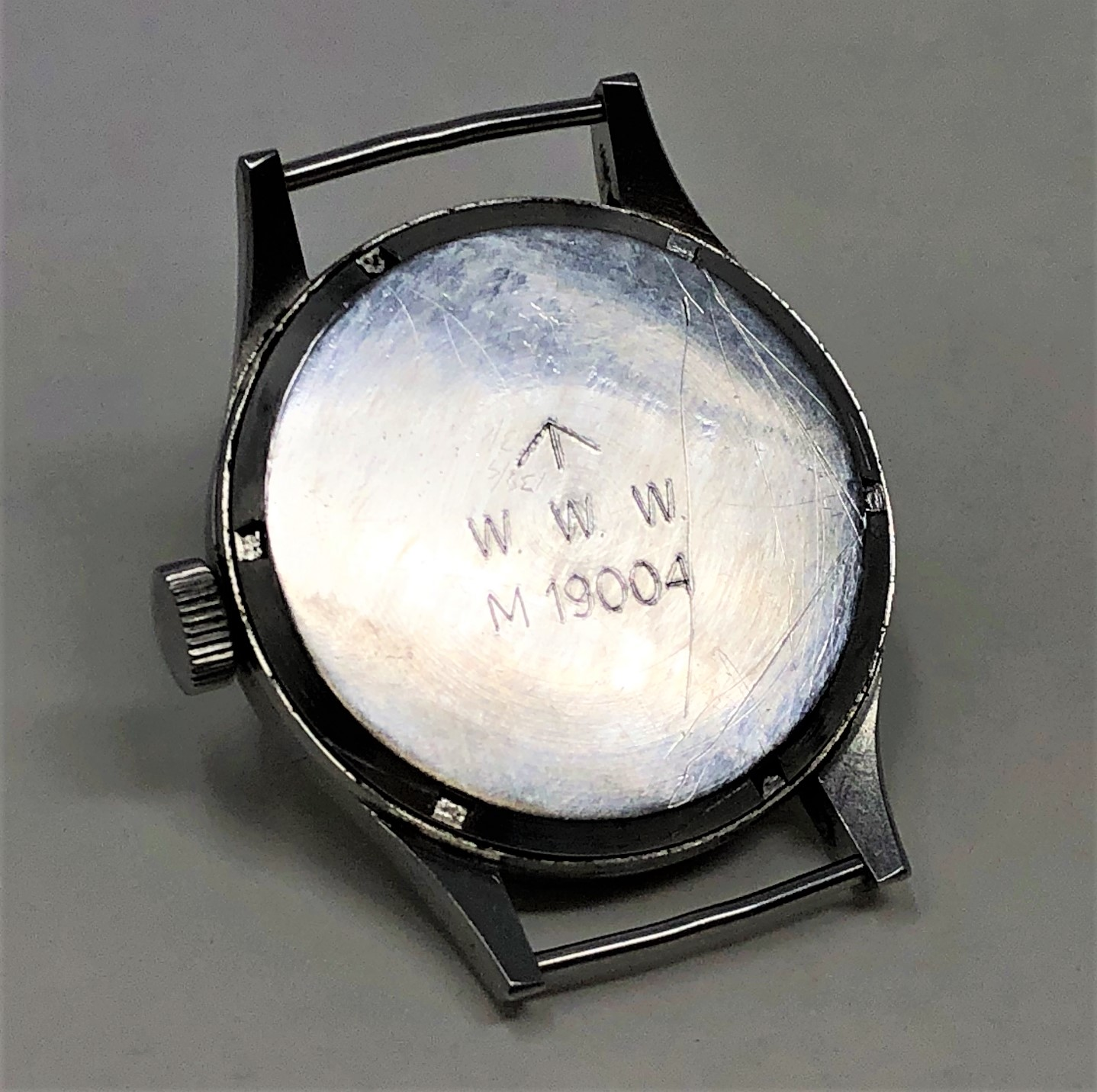 A very rare stainless steel British Military Grana wristwatch, - Image 7 of 11