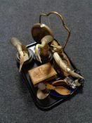 A tray of opera glasses, car ash tray,