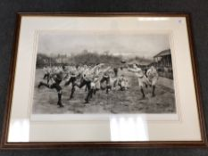 After William Barns Wollen : A Rugby Match, photogravure, published by Mawson,
