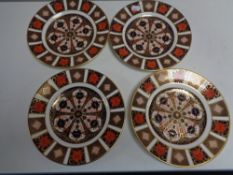 Four Royal Crown Derby Imari side plates, width 21.3 cm.
