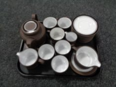 A tray of nineteen pieces of Hornsea oven to table ware
