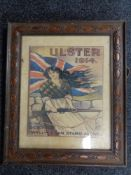 """A framed colour print """"Ulster 1914"""""""
