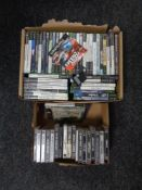 Two boxes of Play Station,