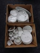 Two boxes of German continental china, Raymond Lowry design.