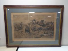 An early twentieth century Stanley Berkel black and white print - For God and King