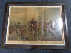 An antiquarian framed lithograpic print - What will they say of this in England?