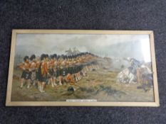 A framed Robert Gibb lithographic print -The thin red line
