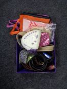 A box of lady's belts,