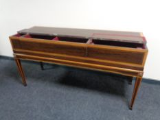 A 19th century inlaid spinette case.