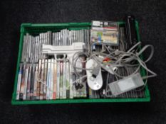 A crate of PS3 and Xbox 360 games, cds, Nintendo Wii,