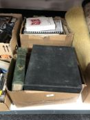 Two boxes of antiquarian books,