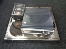 A hot plate together with Alba flat screen tv,
