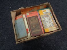 * Withdrawn * A box of vintage road maps,