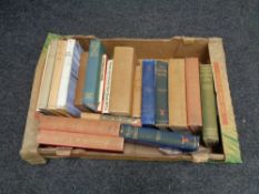 A box of antiquarian and later books relating to horses and hounds,