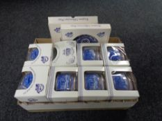 A collection of boxed Ringtons china, Millenium caddies,