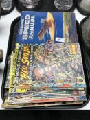 A tray of vintage Marvel and other comics, DC,