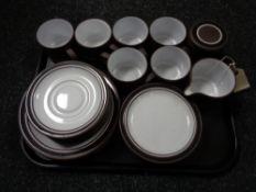 A tray of twenty four pieces of Hornsea Lancaster Vitranic tea china