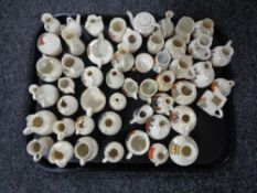 A tray of fifty pieces of crested china