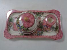 A three piece Maling Azalea trinket set