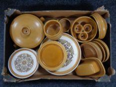 A box of Hornsea saffron dinner ware