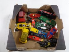 A box of twelve assorted Scalextric cars