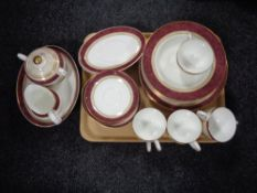 A 42 piece Royal Doulton Rosewood tea and dinner service