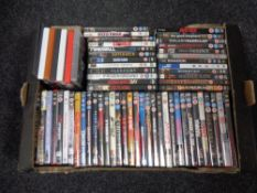 A box of dvds,
