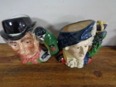Two large Royal Doulton character jugs - Bonny Prince Charlie and The Walrus & Carpenter