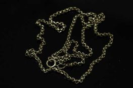 A 9ct gold chain necklace, 6.8g.