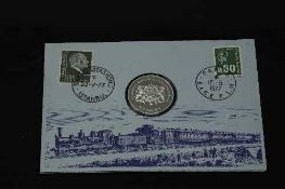 Franklin Mint - The last run of the Orient Express, 1977 coin stamp cover.