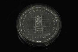 A Canadian silver commemorative dollar 1952 - 1977.
