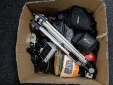 A box of cameras, Chinon CE-4S Yashica, Praktica,
