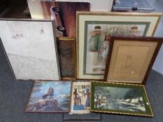 A quantity of framed pictures and prints,