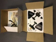 Two Atlas Editions die cast Battle of Britain model aircraft sets;