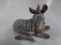 A Lennox porcelain figure - Zebra