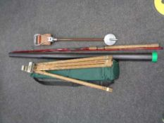 A two piece fishing rod,