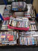 Eight boxes of DVD's and CD's