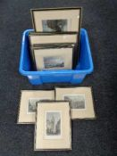 A box of nine colour engravings - Scenes of Newcastle,