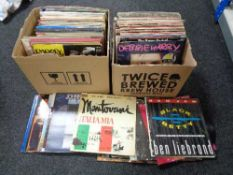 Two boxes of LP's, World Music,