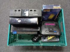 A crate of Sega Mega drive II, Xbox, Xbox 60, PS2,