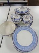 A box of Maling dinner plates and tureen (no lid),