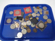 A tray of coins,